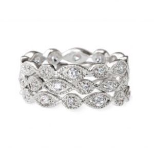 Stella & Dot Deco Stacked Rings Size 6